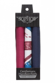 Red Blue and Union Jack Handkerchiefs